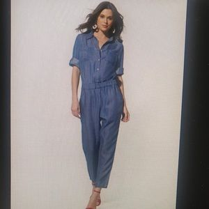Women's New York & Co. Denim Jumpsuit